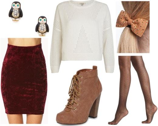 Fab Find: Forever 21 Velvet Skirt - Cozy Chic