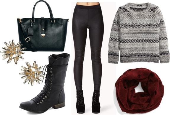 Class to Night Out: Leather Look Leggings