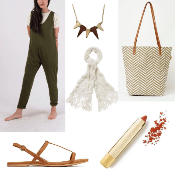 An outfit influenced by cacti from sustainable brands