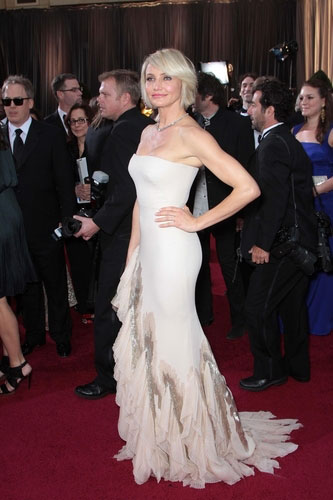 Cameron Diaz in Gucci at the 2012 Academy Awards