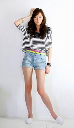 Girl wearing a crop top