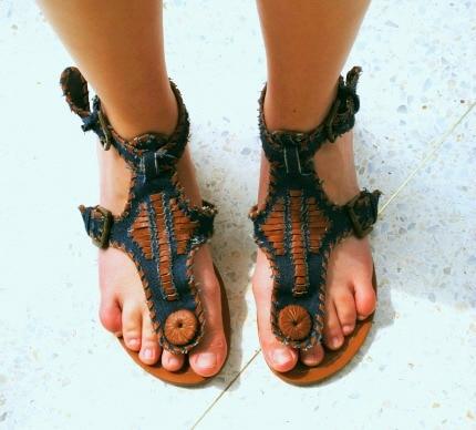 Campus street style boho sandals