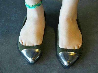 Cap toe flats university of New Mexico fashion trend