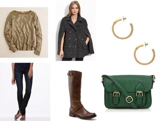 Cape coat outfit 1