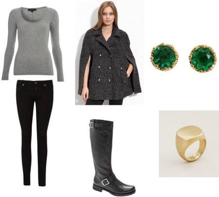 Cape coat outfit 2