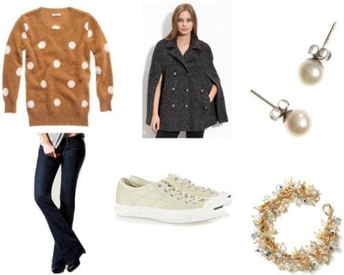 Cape coat outfit 4