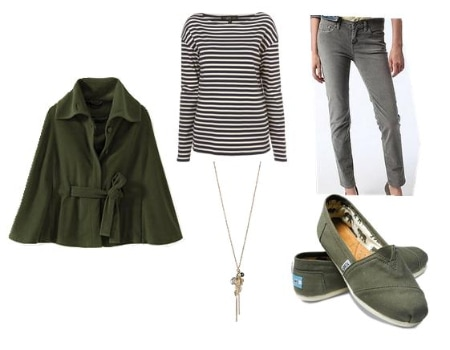 Cape Coat Outfit