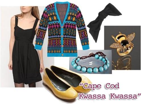 Outfit inspired by Cape Cod Kwassa Kwassa