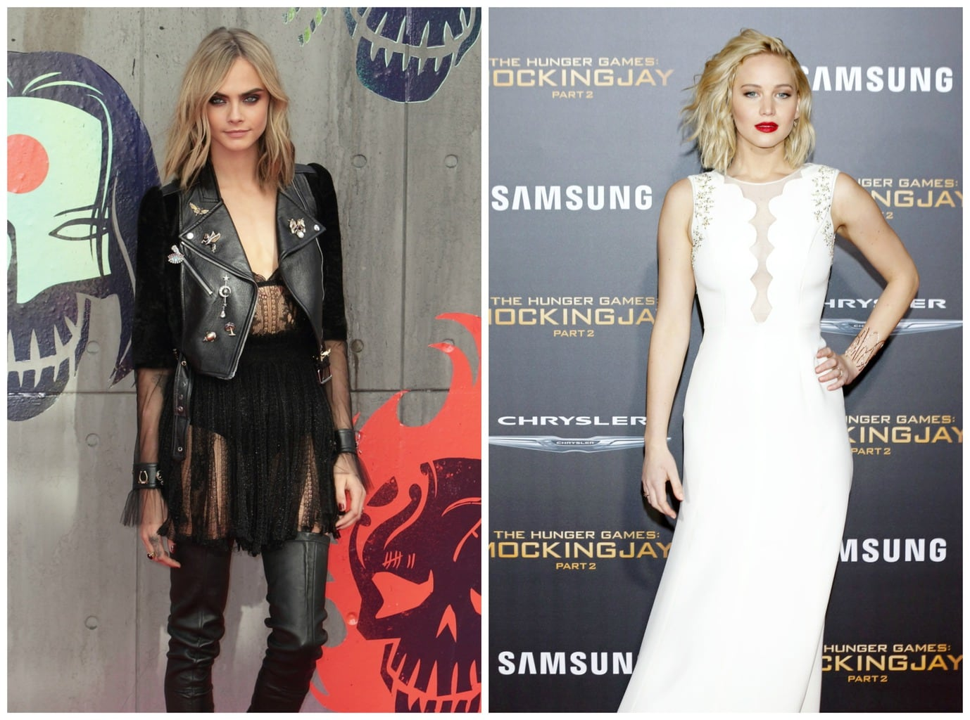 Cara Delevingne vs Jennifer Lawrence