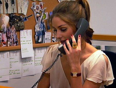 Olivia Palermo working at ELLE on The City