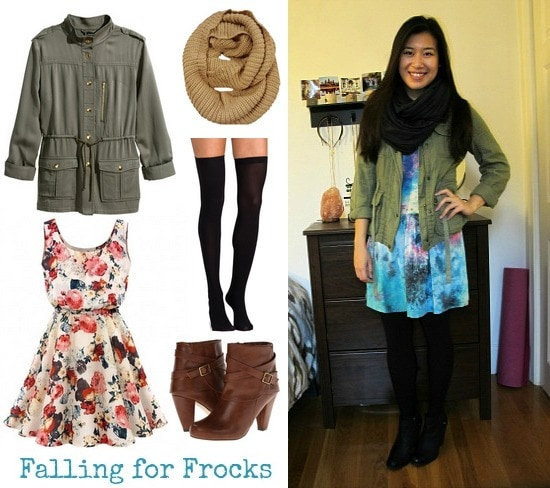 Cargo jacket and summer dress look