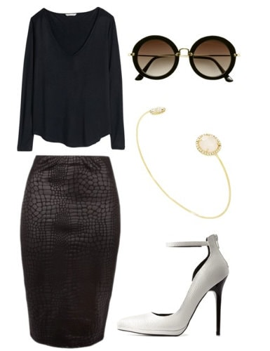 Carine Roitfeld Work Outfit Set
