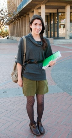 Carine, a college fashionista from UC Berkeley