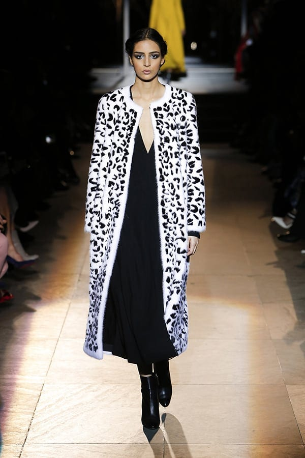 Fall 2018 trends - animal print seen at Carolina Herrera Fall 2018