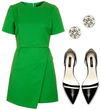 Casual conference green dress outfit