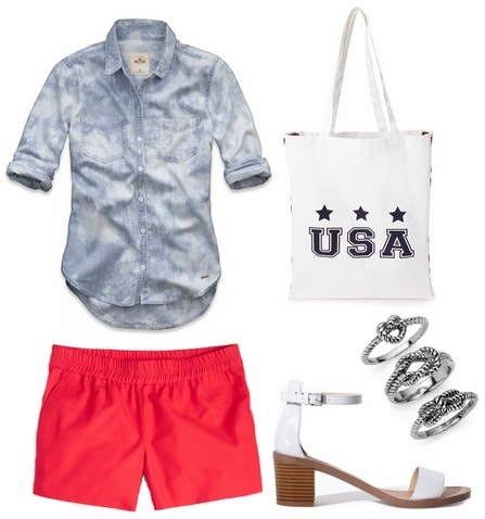 Casual Fourth of July outfit