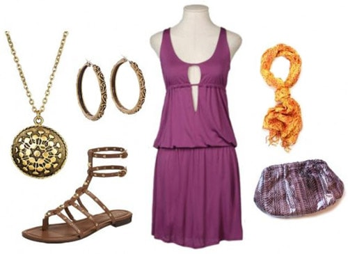 Casual grecian-inspired dress outfit