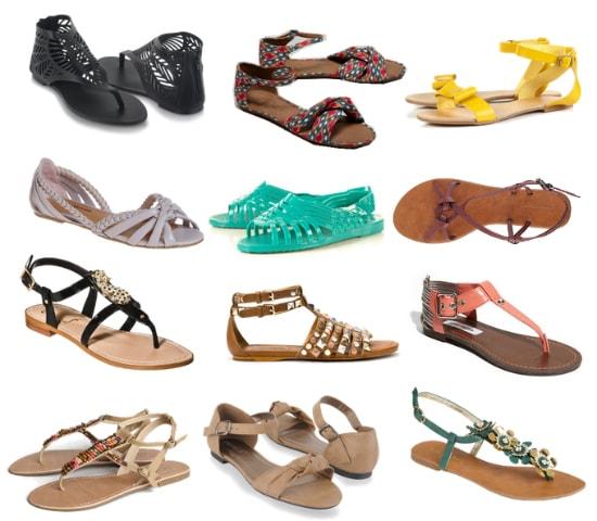 Casual summer sandals under