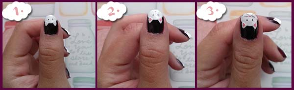Cat attack nail tutorial steps cat face