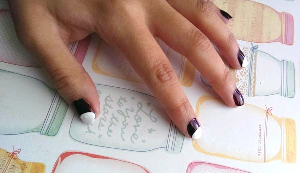 Cat nail art tutorial half circle