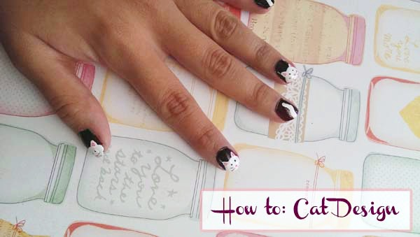 Cat nail art tutorial