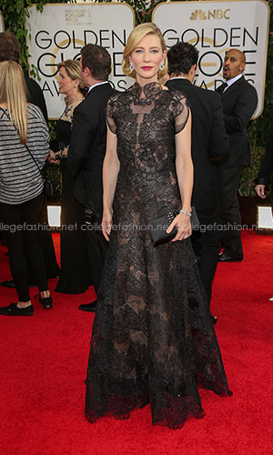 Cate Blanchett in Armani Prive at the 2014 Golden Globes