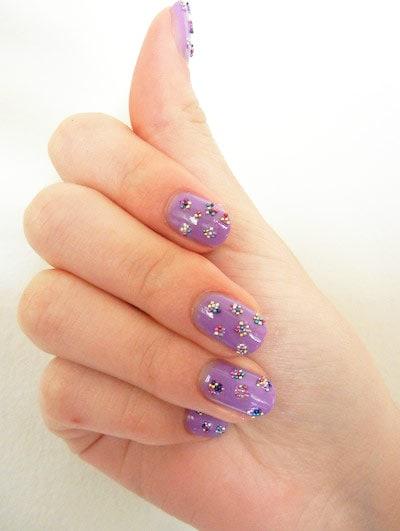 Polka dot nail art with Ciate Caviar Nail Polish