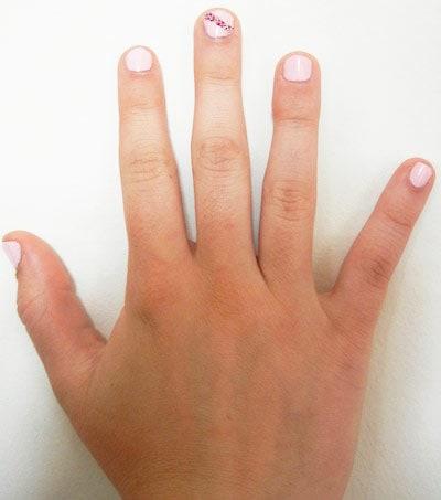 Stripe nail art with Ciate Caviar Nail Polish