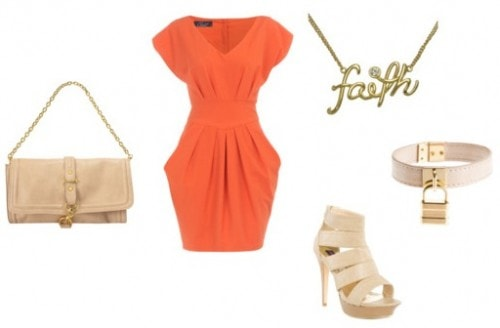 Bright colors paired with neutrals