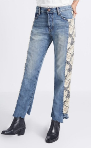 Current / Elliott jeans with lace on the sides