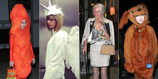 several celebrity Halloween costumes