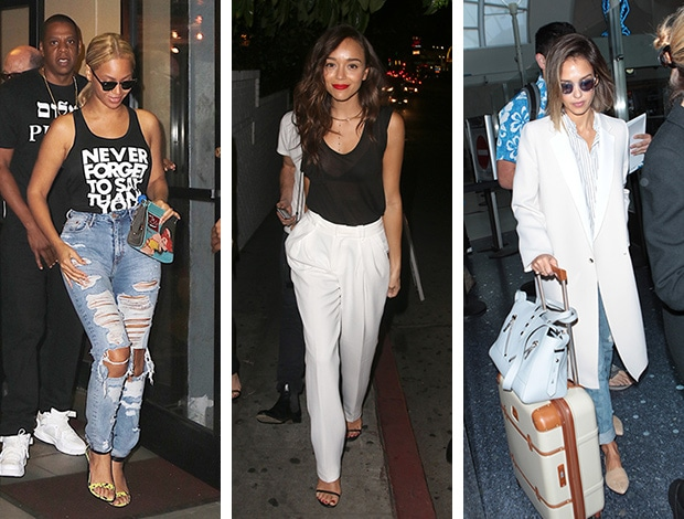 Celebrity street style of the week: Beyonce, Ashley Madekwe, and Jessica Alba