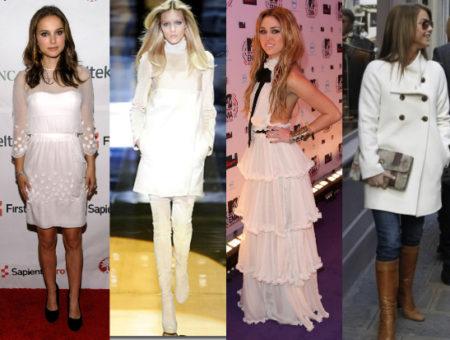Celebs & Model in Winter White