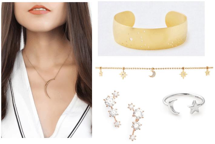Minimalist jewelry trends: Celestial jewelry