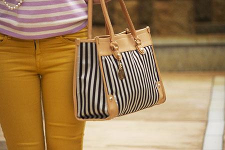 Point Park University style: Striped bag