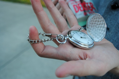Mens college street style at UCF: Pocket watch