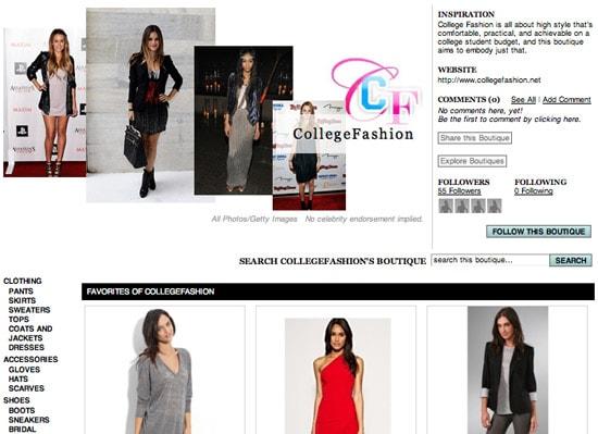 CF's Boutiques.com shopping boutique