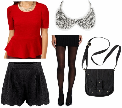 CF Fabulous Find Forever 21 Peplum Top Outfit 1