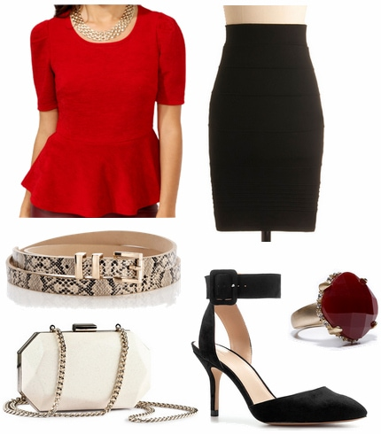 CF Fabulous Find Forever 21 Peplum Top Outfit 3