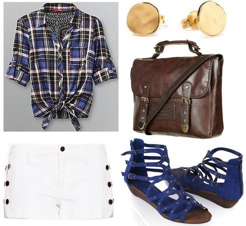 CF fabulous find kmart plaid shirt outfit 1