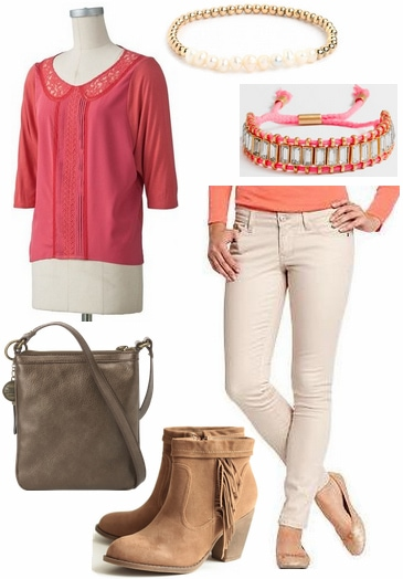 CF Fabulous Find LC Lauren Conrad Pink Blouse Outfit 3