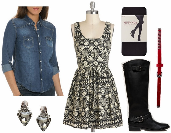 Cf fabulous find wet seal denim shirt outfit 3
