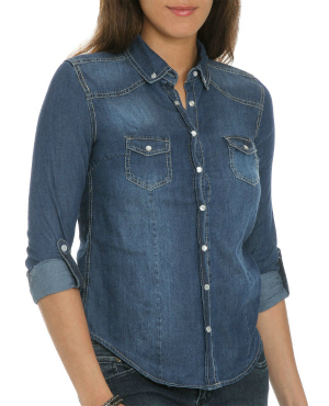 Cf fabulous find wet seal denim shirt