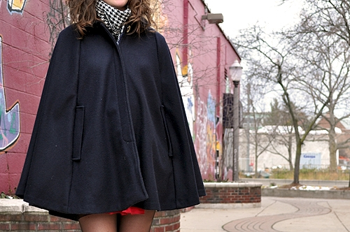 College fashionista cape coat
