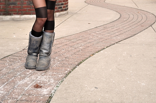 College fashionista patterned tights