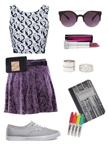 Velvet Skirt Concert Look
