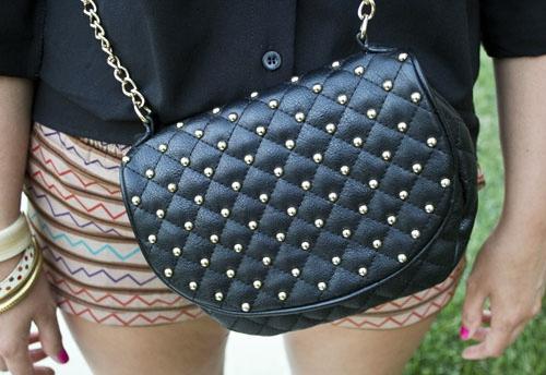 Chain strap purse at the university of kansas