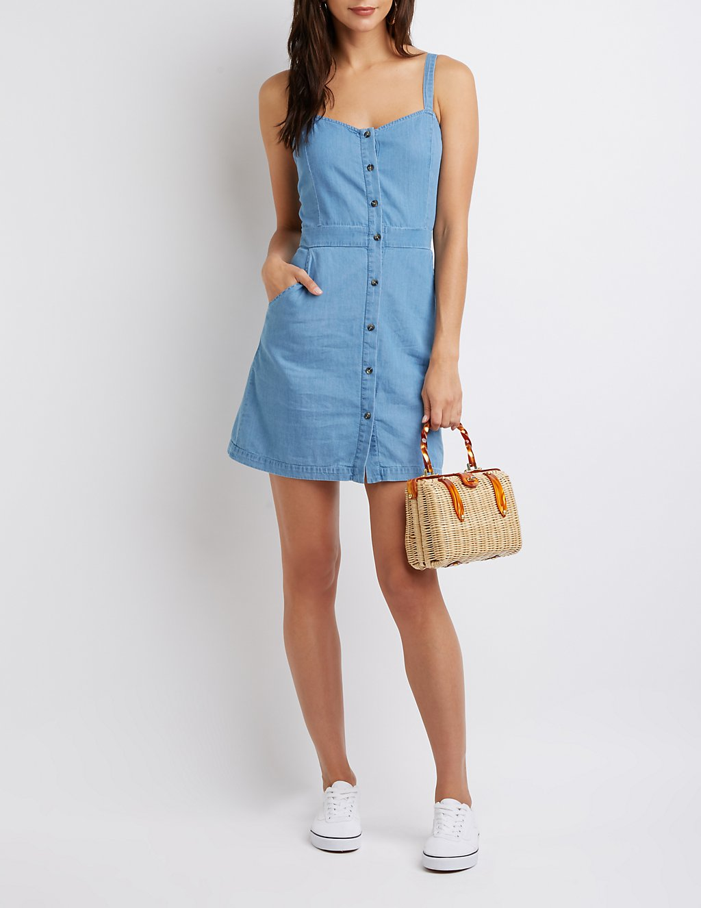 Charlotte Russe Chambray Button Up dress