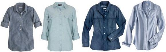 Chambray tops wardrobe staple