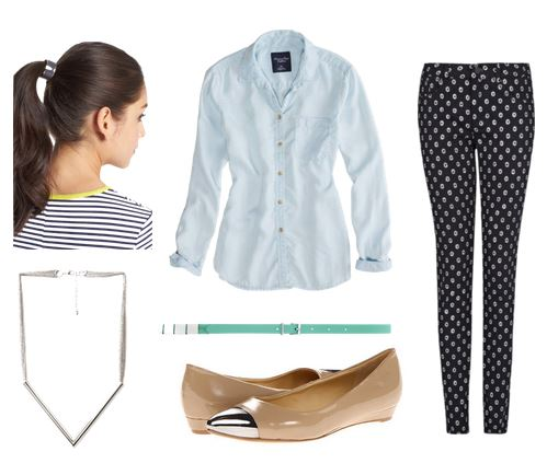 Chambray business casual outfit